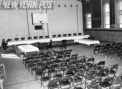 Bergdoll trial being held on Governors Island in Pon Gym. 1939