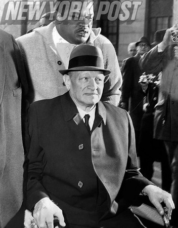 Martin C. Epstein a former Sla Chairman being wheeled into the D. A. S office. 1963