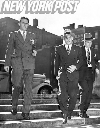 George Weinberg leaving Supreme Court in custody of a detective 1938.