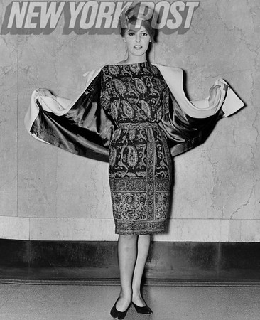 Gayle baker models the latest fashion. 1961