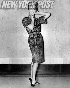 Gayle Baker models in 1961.