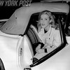 Gayle Baker as she steps out of her Corvair 1961
