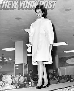 Princess Ira Furstenberg models the latest fashions of 1965.