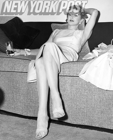 Lisa Fonssagrives Modeling On Couch. 1955.