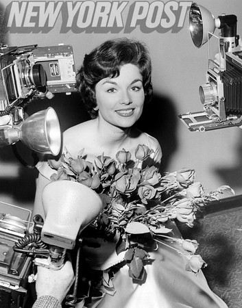 Stunning Miss Robbin Bain poses for the cameras after being named Miss Rheingold of 1959.