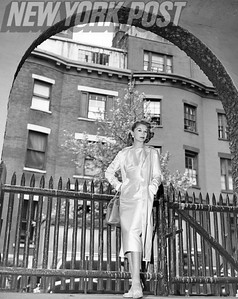 Lisa Fonssagrives Modeling In Front Of New York Apartments. 1955.