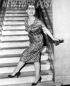 Lynn Stanton Flashing Smile On Staircase. 1958.