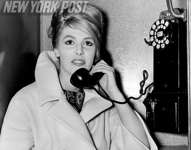 Gayle Baker teases the boys at NYU with calls and streaking. 1961