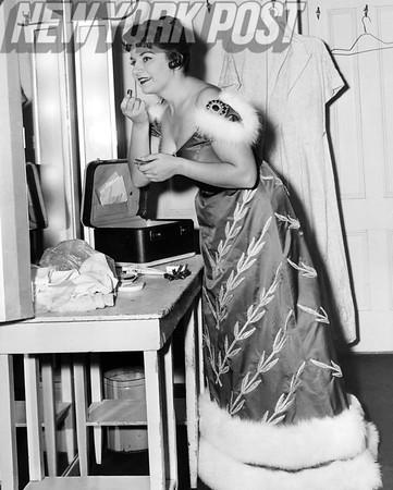 Lucine Amara - Famed opera singer prepares for her role. 1958