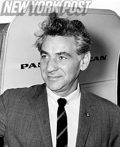 Leonard Bernstein takes off to London for the premiere of his first show that he wrote, On the Town. 1963