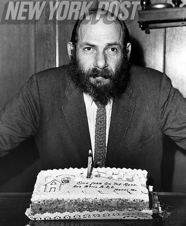 """Herschel Bernardi throws a party to celebrate the 1st Anniversary of """"Fiddler on the Roof"""" on Broadway. 1966"""