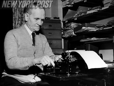 Still working away! English lecturer, journalist, author, and Member of Parliament, Nobel Peace Prize winner Sir Norman Angell. 1948