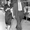Nella Bogart and Max Fruchtman attorney for her husband. 1957