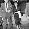 Nella Bogart With New York Attorney Leaving Federal Court. 1957