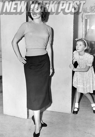 Miss America Yolanda Betbeze strikes a pose. 1950