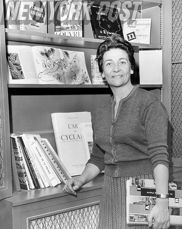 Professor Germaine Bree, chair of the French department ay New York University's Washington Square College of Arts and Science. 1958