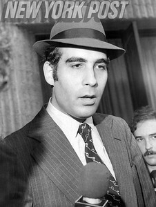 Meyer Bergman, son of Bernard Bergman, during the hearing against his father's nursing home chain. 1976
