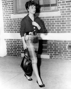 Miss Annette DeMarzo, girlfriend of Anthony Brand, who was a reported Brooklyn mobster. 1959