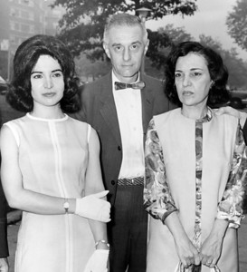 Arlene Del Fava with her father, William and her mother, Rosalie, talk to Reporters after leaving Queens criminal court. 1964
