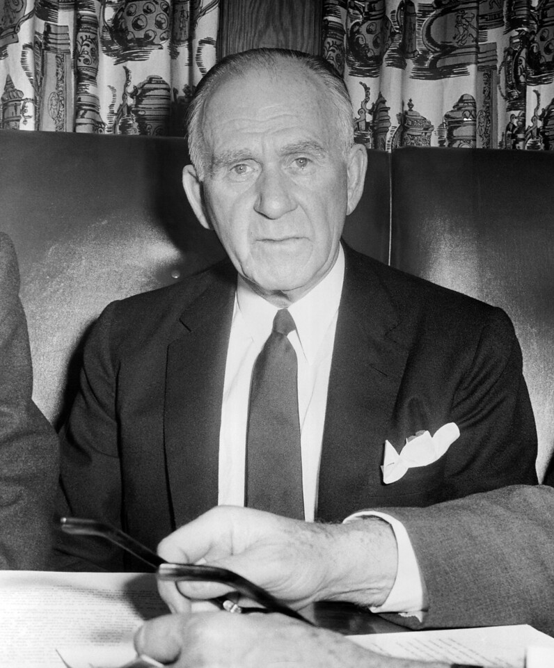 Chairman of Madison Square Garden Rear Admiral John J. Bergen. 1959