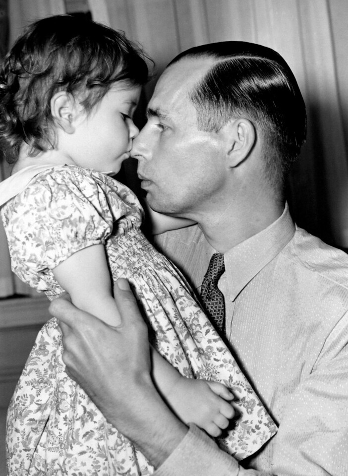 Mr. Bill Douglas with his daughter, Blair. 1939