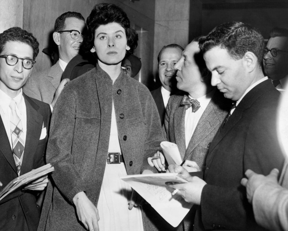 NY Post reporter, David Gelman, interviews Ms. Pat Ward. 1955