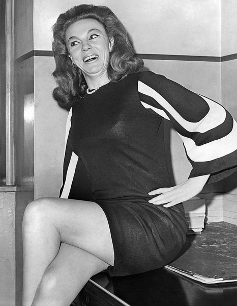Rudy Diamond, a topless waitress at the Crystal Room Supper Club was arrested for indecent exposure. 1967