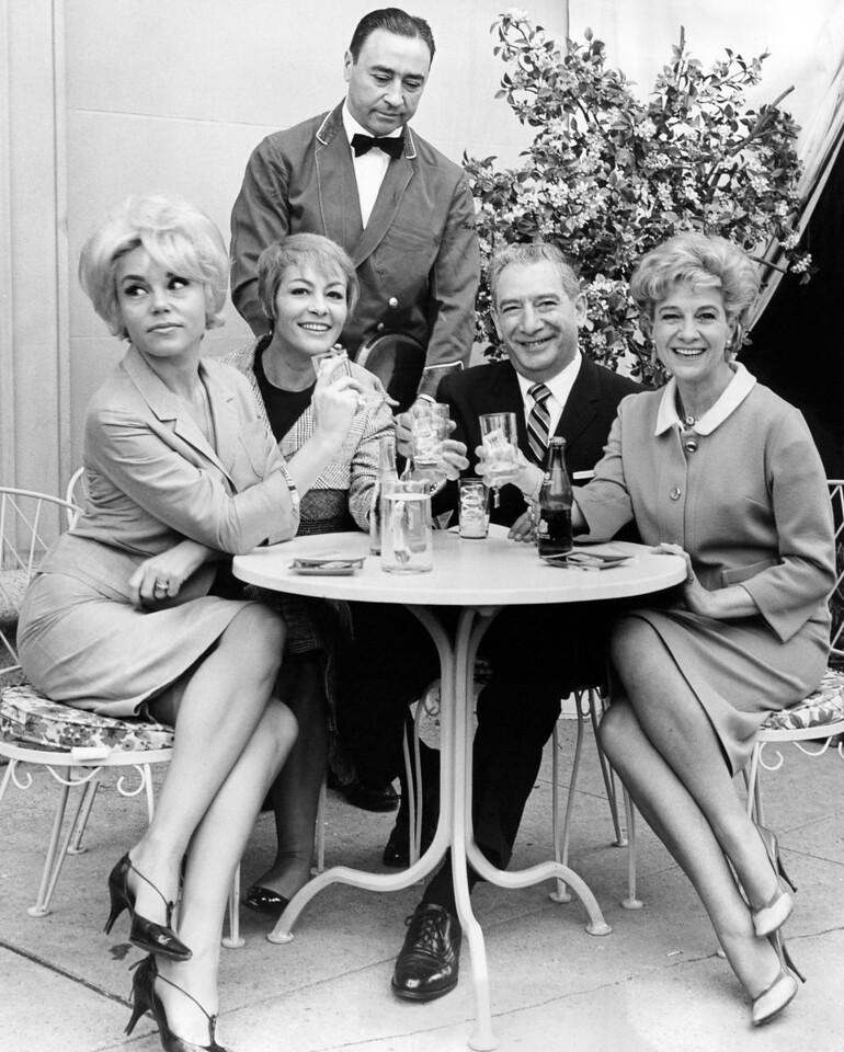 Joseph Dicarlo enjoys lunch with the ladies. 1965