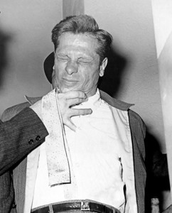 Photo show Lawrence Catanzaro who was the alleged driver of the car in which three or more men killed parcel post employee. May 19, 1961.  (Photo by Barney Stein/New York Post/Photo Archives, LLC )