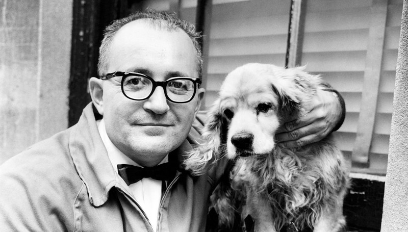 Leonard Israel and his puppy. 1964