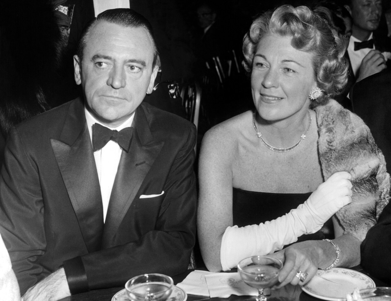 Mr. Thomas Deegan, Chairman of the proposed World's Fair for 1964, and Mrs. Joseph Binns, was among those who attended the opening of the Met. 1956