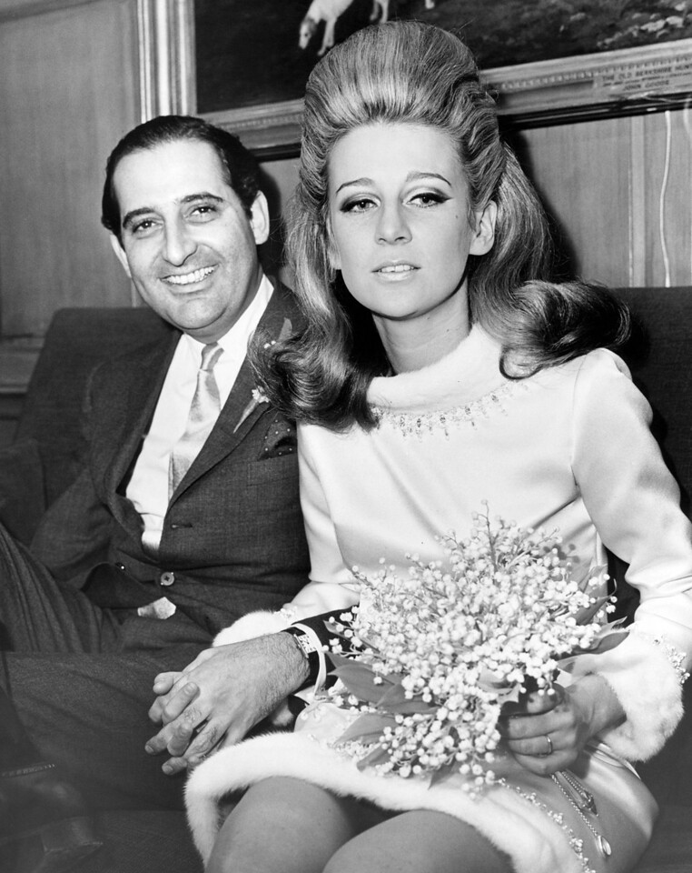 Giancarlo Uzielli and his new bride, Ann Ford.  December 30, 1965.