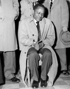 Pedro Cruz reacts to seeing his three slain sons. 1959