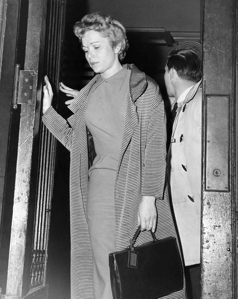 Dolores Buxton Leaving the 14th precinct. 1958