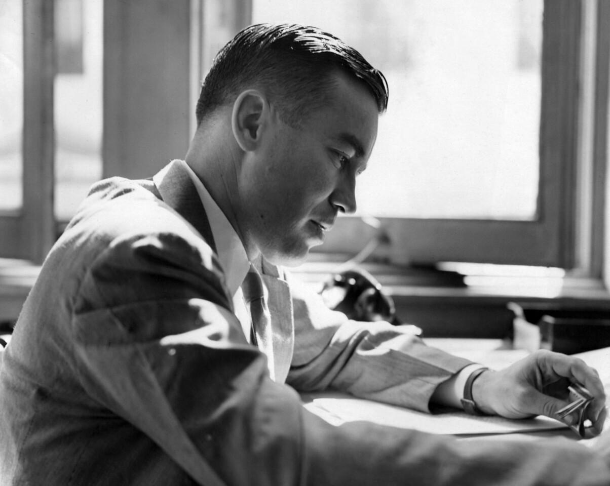 Lincon Clark at work. 1946