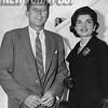 Senator John F. Kennedy and his wife Jacqueline Onassis