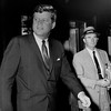 President John F. Kennedy leaving the Carlyle Hotel in New York City