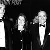 New York Major Rudy Giuliani poses with John Kennedy Jr. and Caroline Kennedy