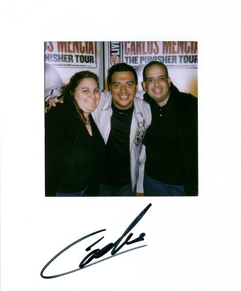 Carlos Mencia<br /> <br /> His show was awesome!  It was really cool to find out that someone else agrees with us on so many different things.