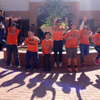 Treasure Hills Elementary students jump for a photo