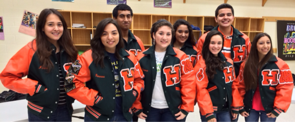 The Harlingen High School South Choir receive their Letterman Jackets.