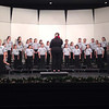 Gabriela Garza performs a solo for the Gutierrez Middle School Choir