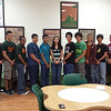 Harlingen High School South students and staff pose for a photo in The Cafe