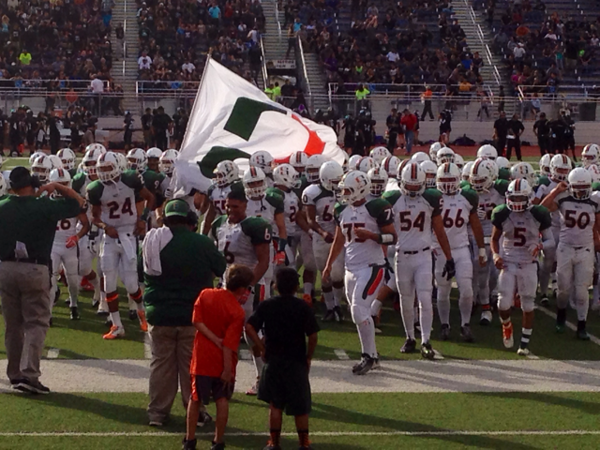 Harlingen High School South football team get ready for their game.