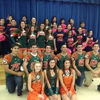 The Harlingen High School South Cheerleaders, Southern Stars, and Football Players unite on red ribbon week as they visit Jefferson Elementary