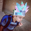 Elementary Students customized hats for Thanksgiving