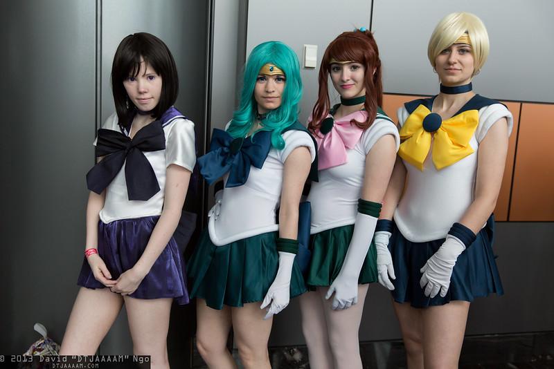 Sailor Saturn, Sailor Neptune, Sailor Jupiter, and Sailor Uranus