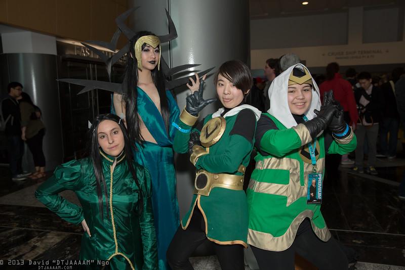 Leah, Hela, and Lokis