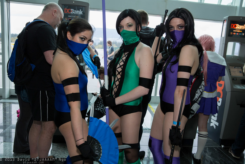 Kitana, Jade, and Mileena