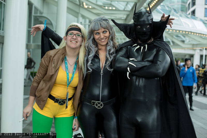 Rogue, Storm, and Black Panther